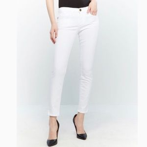 Current Elliott The Back Zip Skinny Jeans in White